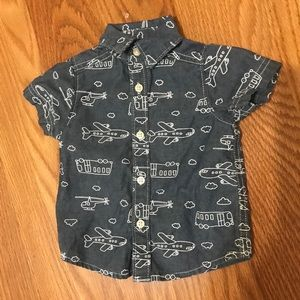 ❗️Final Price Never Worn-Airplane Button Up